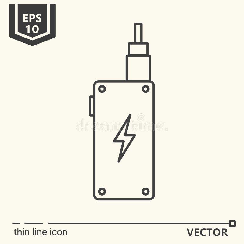 Um ícone - vape ilustração stock