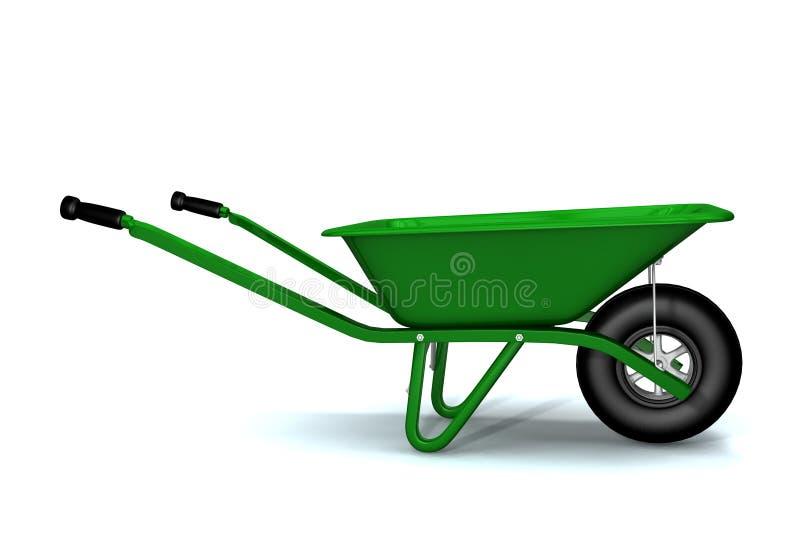 Um 3D rende de um wheelbarrow ilustração stock