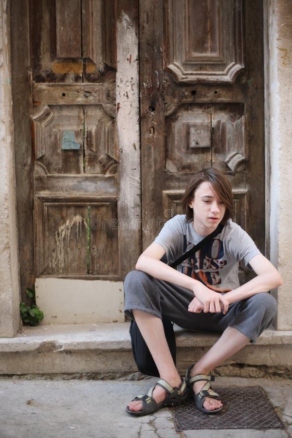 Um adolescente foto de stock
