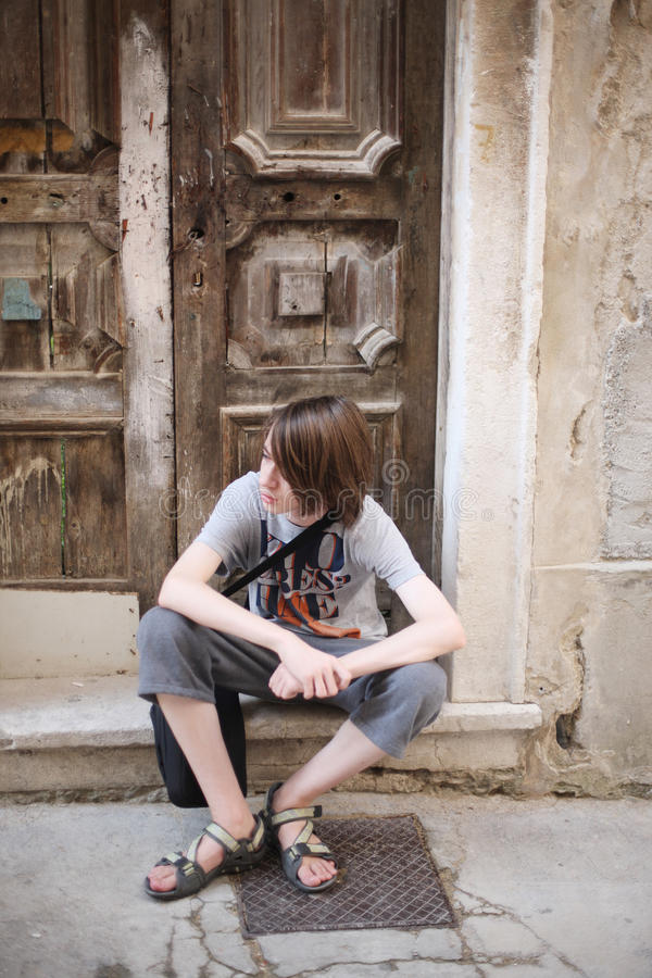 Um adolescente foto de stock royalty free