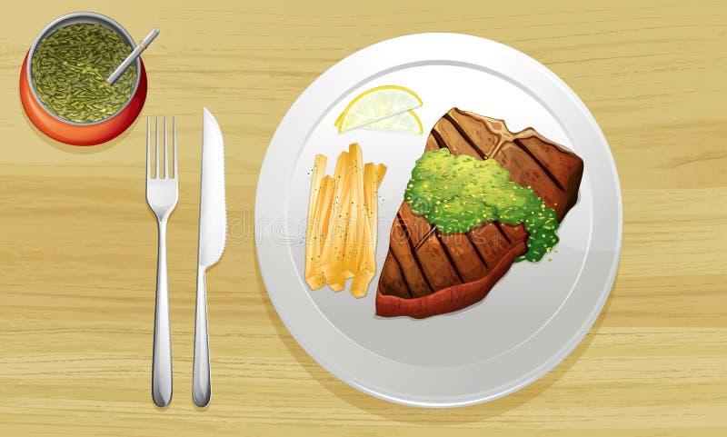 Um alimento ilustração royalty free