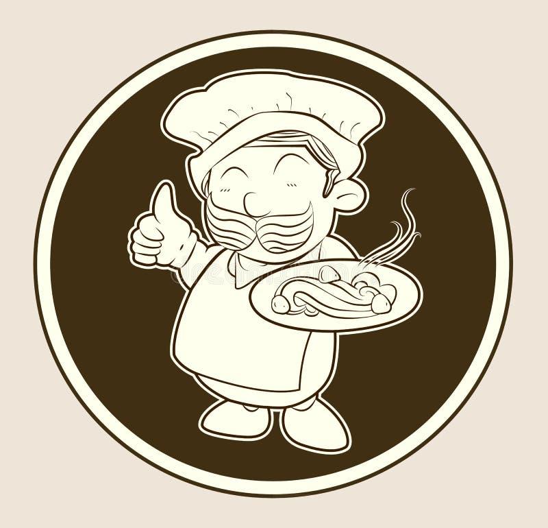 Um alimento do serviço do cozinheiro fotos de stock royalty free