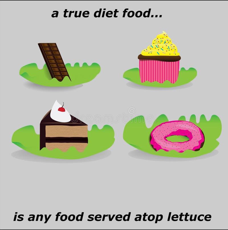 Um alimento verdadeiro da dieta fotografia de stock