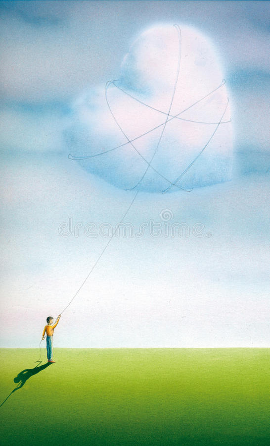 Um amor do verão ilustração stock