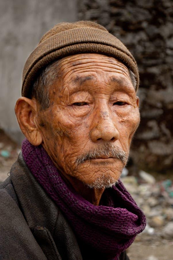 Um ancião fotografia de stock royalty free