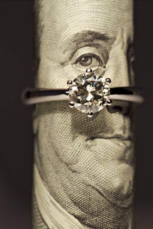 Um anel de diamante do quilate foto de stock royalty free