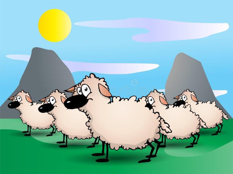 Um animal de exploração agrícola bonito dos sheeps ilustração royalty free