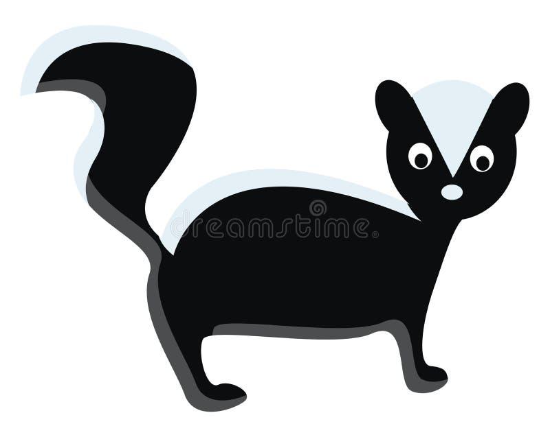 Um animal selvagem conhecido por pulverizar desenho ou ilustração coloridos fortes de vetor líquido cheiroso ilustração do vetor