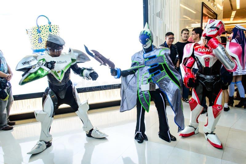 Um anime japonês não identificado cosplay. foto de stock royalty free