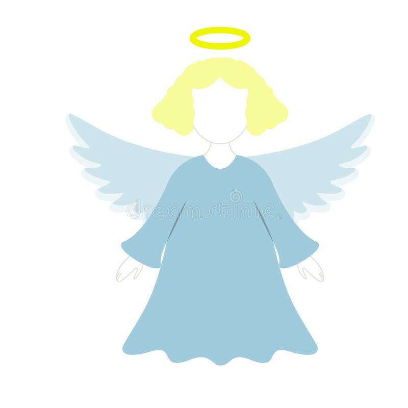 Um anjo do Natal do ícone na cor ilustração stock
