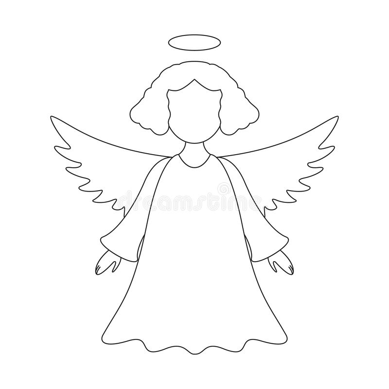 Um anjo do Natal do Feliz Natal do ícone ilustração royalty free