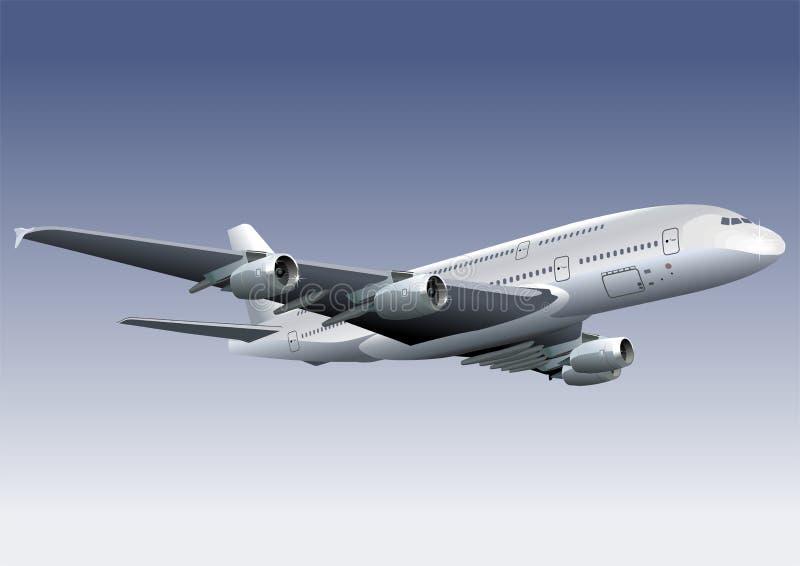 Um avião de 380 Lagest ilustração royalty free