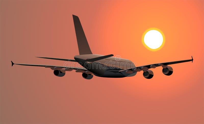 Um avião de 380 Lagest ilustração do vetor