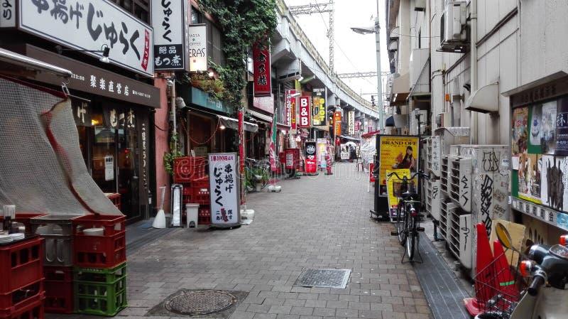 Um backstreet no Tóquio foto de stock royalty free