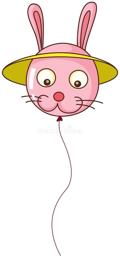 Um balão coelho-dado forma ilustração royalty free