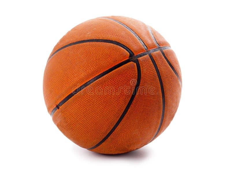 Um basquetebol alaranjado oficial sobre o branco fotos de stock royalty free