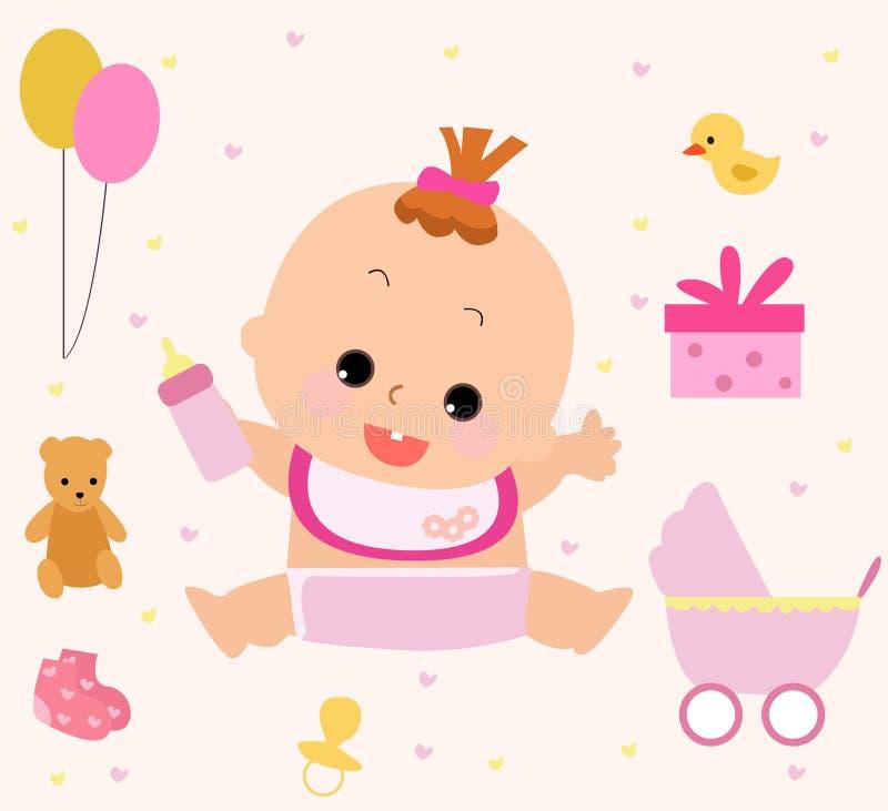 Um bebê ilustração stock