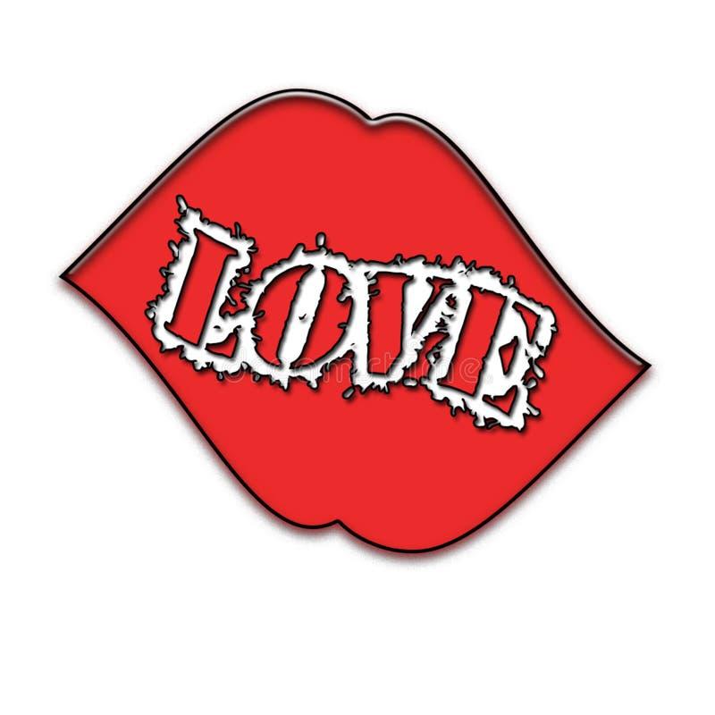 Um beijo com grande amor imagem de stock royalty free