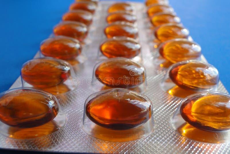 Um bloco de bolha das drogas imagem de stock
