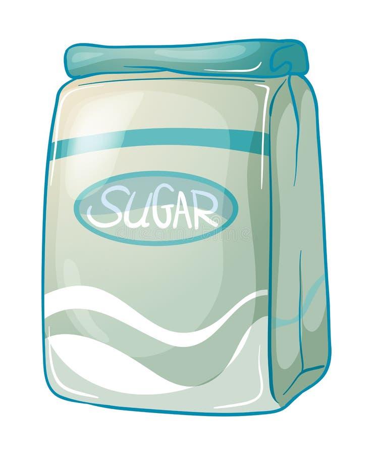 Um bloco do açúcar ilustração royalty free