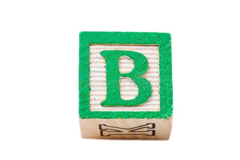 Um bloco do alfabeto fotografia de stock