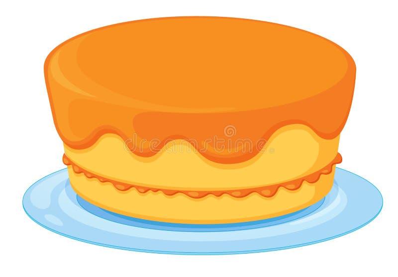 Um bolo ilustração stock