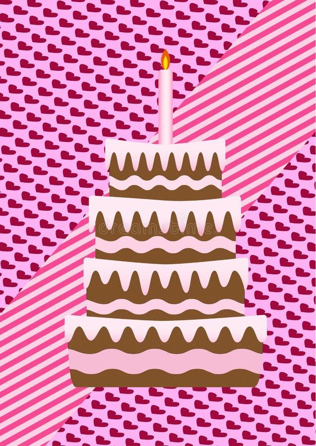 Um bolo de aniversário fotografia de stock