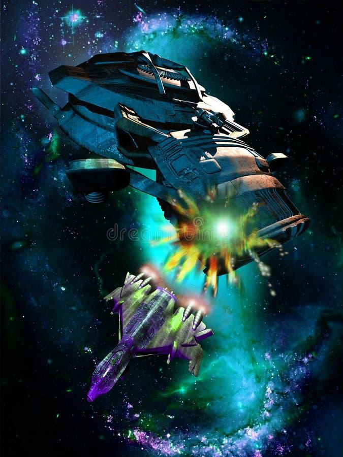 Ataque do espaço ilustração do vetor