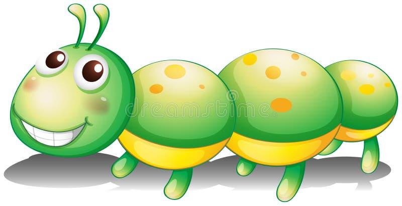 Um brinquedo verde da lagarta ilustração do vetor
