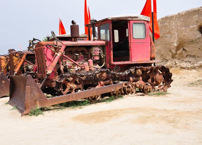 Um Bulldozer Antigo, Rejeitado fotografia de stock royalty free