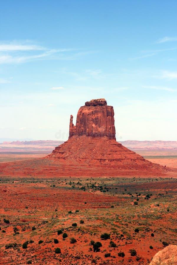 Um butte no vale Utá/Arizona do monumento fotos de stock