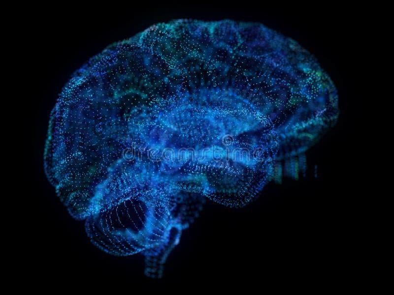 Um cérebro abstrato do plexo ilustração royalty free