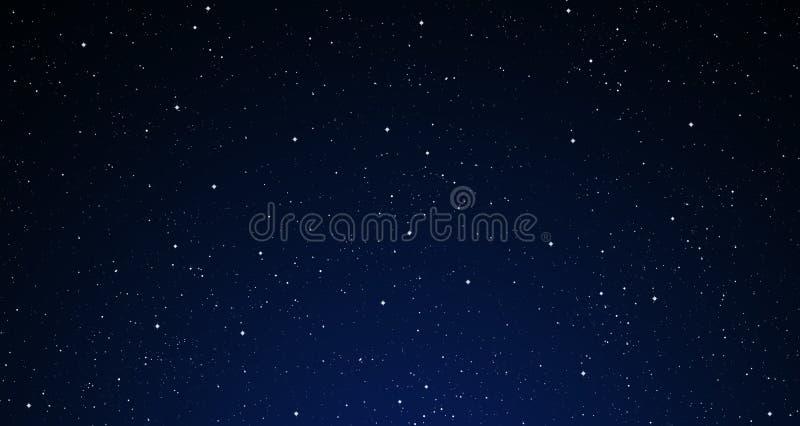 Um céu nocturno estrelado.