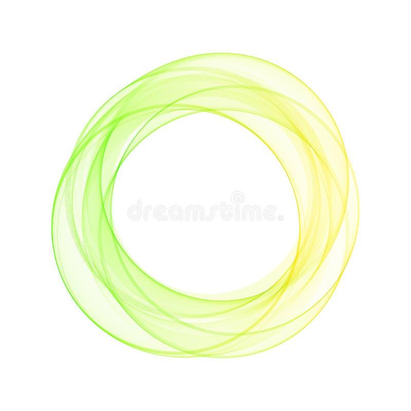 Um círculo colorido brilhante Ilustra??o colorida do vetor Disposi??o para anunciar Eps 10 ilustração do vetor