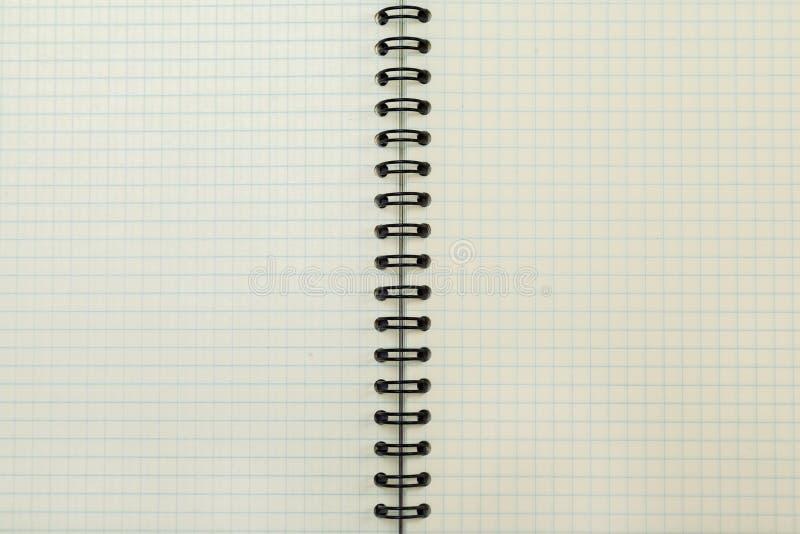 Um caderno vazio aberto, páginas em uma gaiola O vintage tonificou a foto Copie o espaço foto de stock