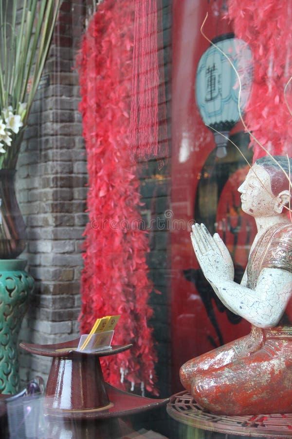 Um café no lago Shicha do Pequim foto de stock royalty free