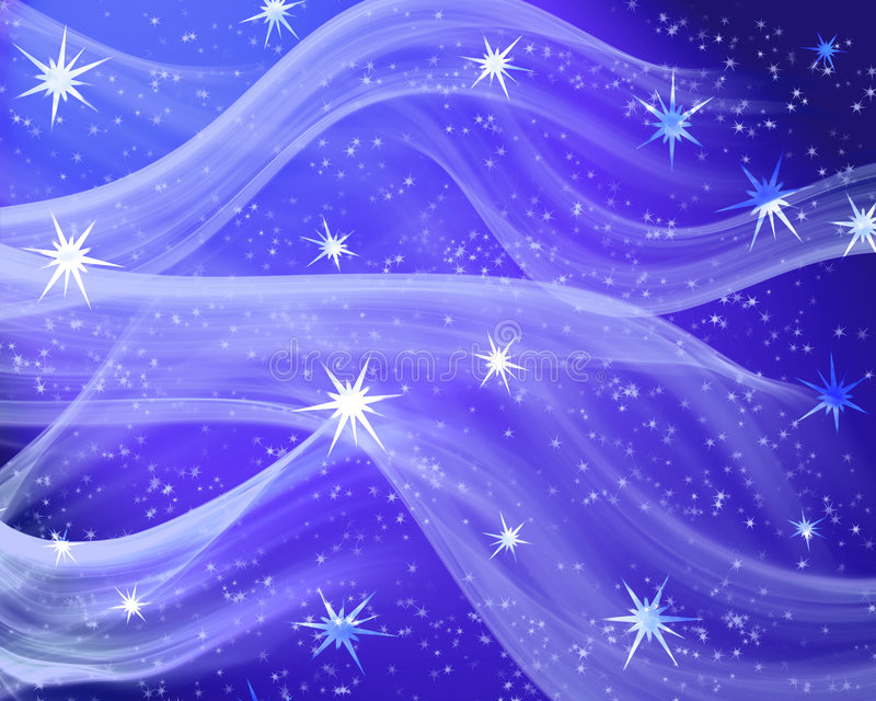 Um campo de estrela azul agradável ilustração stock