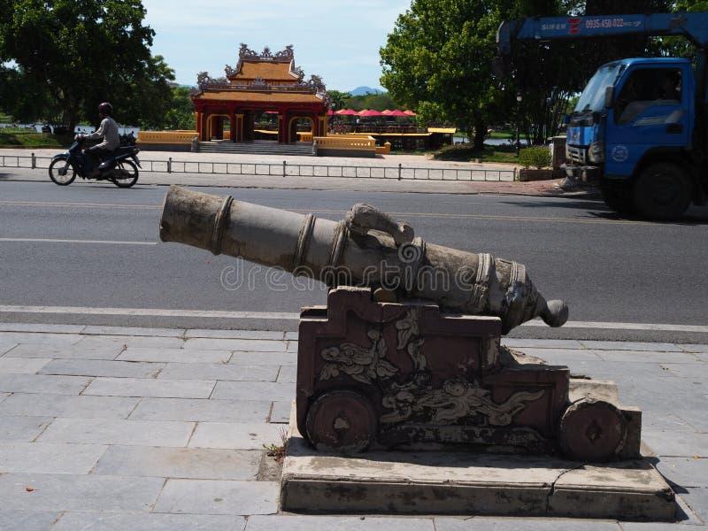 Um canhão feito de Cement in Hue fotografia de stock royalty free