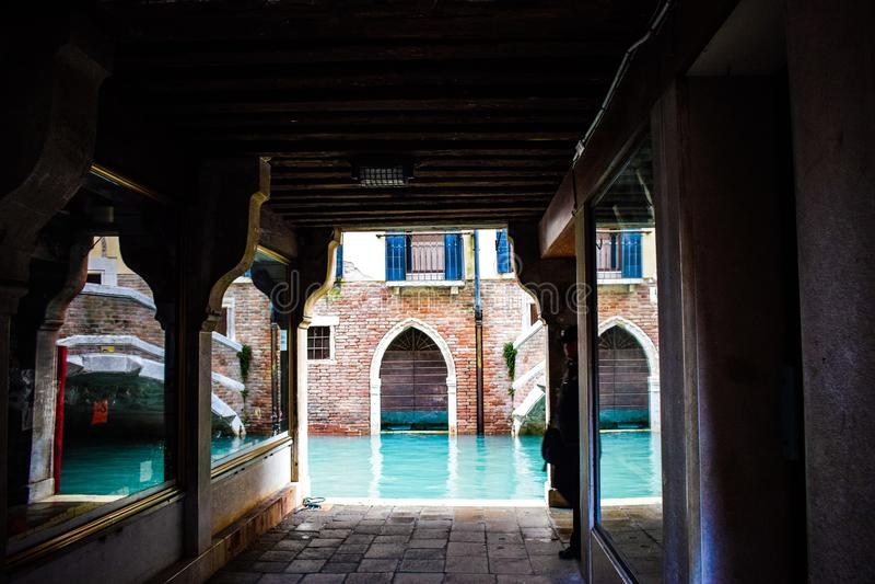 Um canto bonito de Veneza fotografia de stock