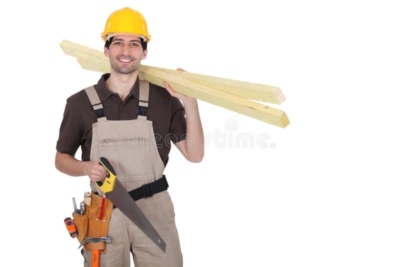 Um carpinteiro. imagem de stock royalty free