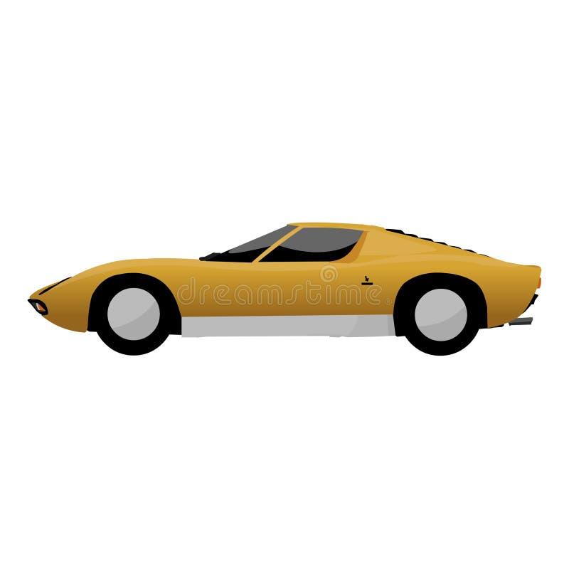 Um carro de esportes clássico incrível ilustração royalty free