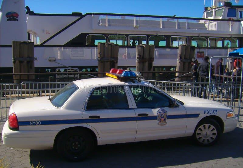 Um carro de polícia em New York fotografia de stock royalty free