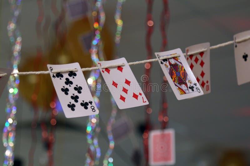 Um cartão da plataforma que pendura para a decoração fotos de stock