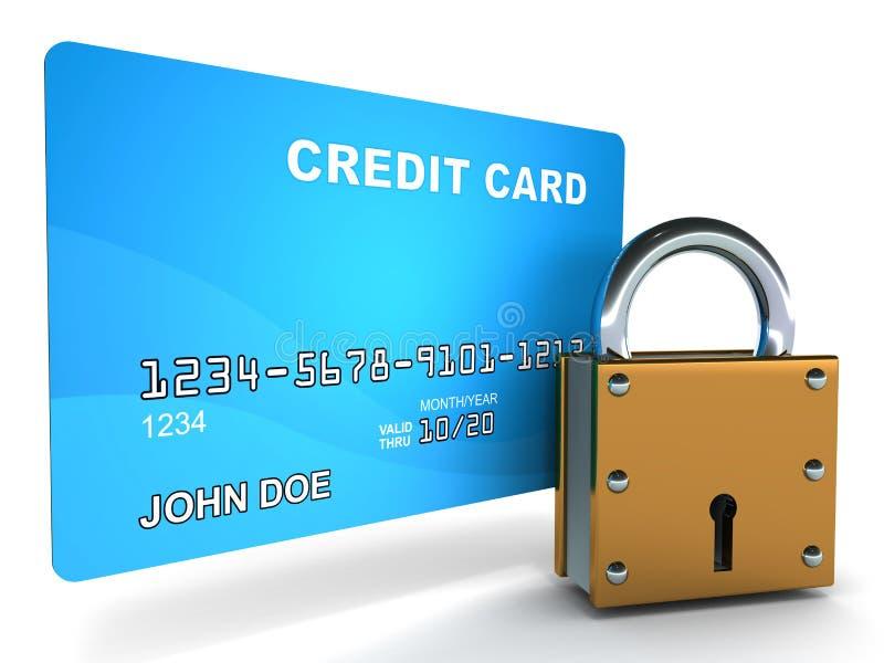Segurança de Creditcard ilustração royalty free