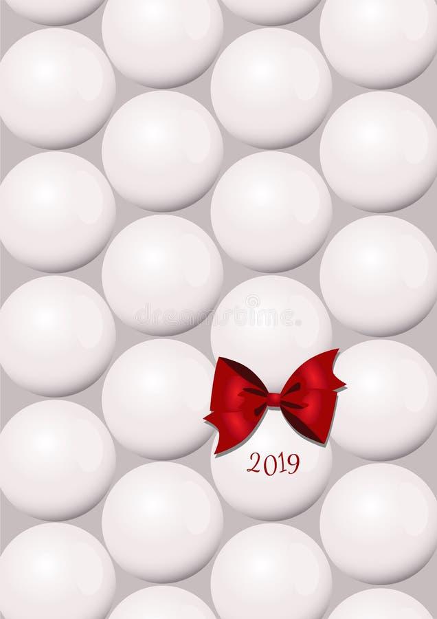Um cartão de Natal abstrato minimalistic com as bolas de uma árvore de Natal imagem de stock