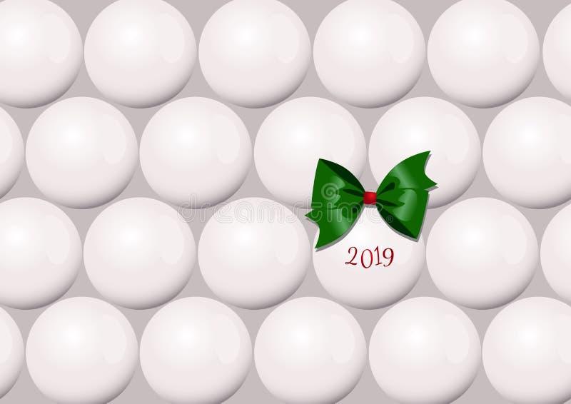 Um cartão de Natal abstrato minimalistic com as bolas de uma árvore de Natal fotos de stock royalty free
