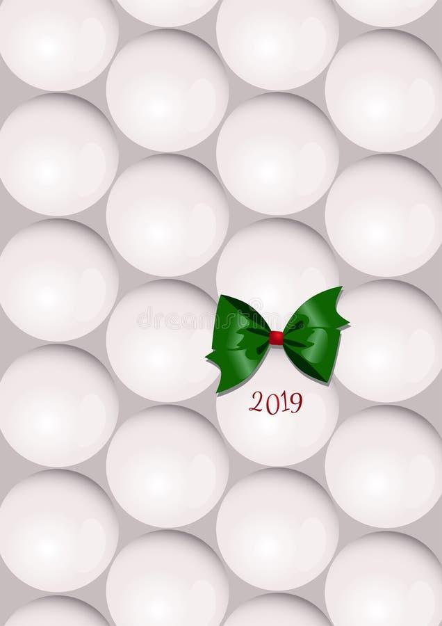 Um cartão de Natal abstrato minimalistic com as bolas de uma árvore de Natal imagens de stock royalty free
