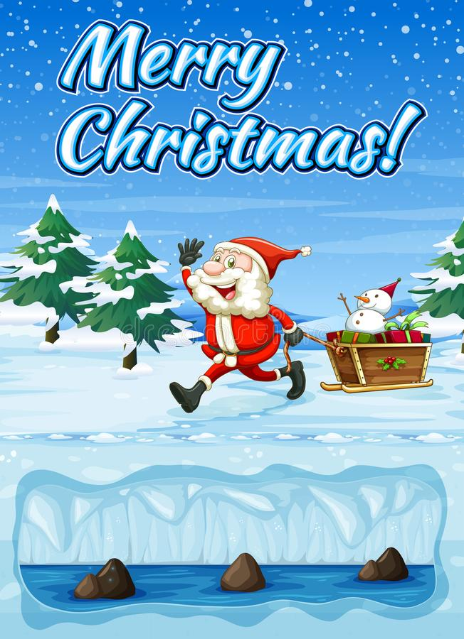 Um cartão do Feliz Natal de Snowt ilustração do vetor