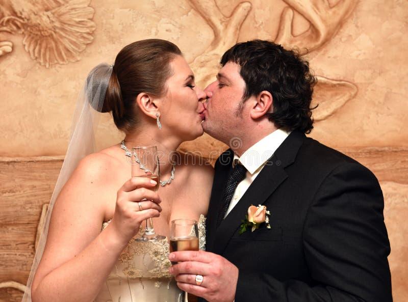 Um casamento da mola fotos de stock royalty free
