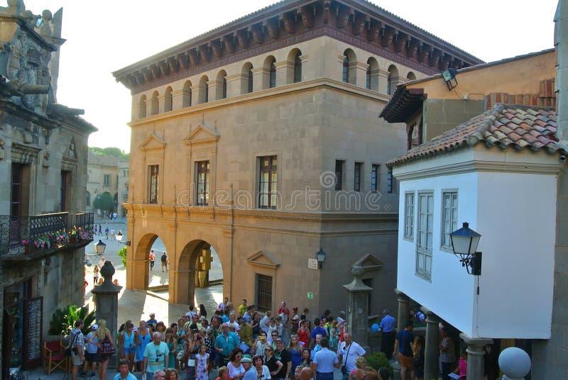 Um castelo espanhol medieval antigo do interior foto de stock royalty free